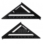 HS2264 7 Inch Aluminum Triangle Ruler Speed Square Rafter Angle Miter Protractor Measuring