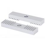 HS2292 DIY GT2 3D Printer Aluminum Block Timing Belt Fixing Piece Tooth Pitch 2mm Clamp 9*40mm