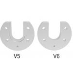 HS2296 V5 V6 Aluminum Mount Plate U-shaped For Hotend J-head Hot End Part