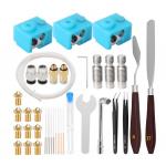 HS2298 3D Printer Kit E3D Nozzles 41 Pcs Set Tool Kit Removal Clean Nozzle Filament Needle
