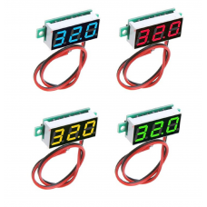 HR0201-1 0.28inch DC 2.5-30V Voltmeter Blue/Green/Red 2 wired