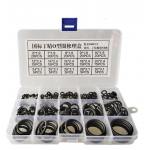 HS2418 200PCS/set Rubber O Ring Assortment kit oring Washer Gasket Sealing O Ring pack 15 Sizes with Plastic Box silicone rubber rings