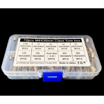 HS0192 82Pcs Set 6x30mm Quick Blow Glass Tube Fuse Assorted Kits 0.5A 1A 2A 3A 5A 10A 15A 20A 30A
