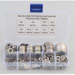 HS2618 684Pcs/set DIN125 M2 M2.5 M3 M4 M5 M6 M8 M10 M12 Stainless Steel Flat Washer Plain Washer Gaskets Assortment Kit