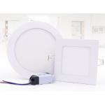 HS2628 LED panel light Round/Square,  3/6/9/12/15/24W