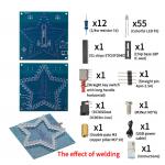 HS2701 DIY Kit Five-Pointed Star Breathing Light Gradient LED Light