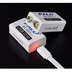 HS2734 PALO 9V Rechargeable Battery 650mAh 6F22