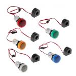 HS2769 Round 22mm AC 50-500V 0-100A Digital Voltmeter Ammeter