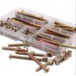 HS2825 100Pcs High Precision M6 Hex Socket Head Cap Screws Bolts and Barrel Nuts Assortment Kit Furniture Connection Screw