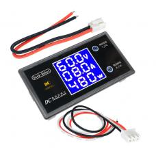 HS2827 Digital DC 0-100V 0-10A 250W Tester DC7-12V LCD Digital Display Voltage Current Power Meter Voltmeter Ammeter Amp Detector