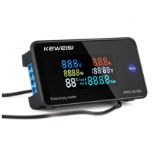 HS2828 KEWEISI AC 50~300V 10A/100A Digital Electricity Meter Voltmeter Ammeter With CT Power Current Voltage Temperature Measurement