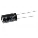 HS2912 250pcs Electrolytic Capacitor 250V 22UF 10*17mm