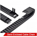 HS3163 Semi-Enclosed Cable Drag Chain 18*18mm/18*25mm/18*37mm/18*50mm