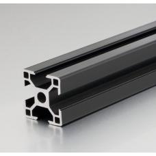 HS3261 Black 3030 T-Slot Aluminum Profiles Extrusion Frame For CNC 25cm/30cm/40cm/50cm/100cm
