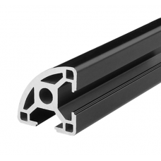 HS3263 Black 3030R T-Slot Aluminum Profiles Extrusion Frame For CNC 25cm/30cm/40cm/50cm/100cm