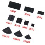 HS3270 Black Nylon Aluminum Profile End Cap Cover Plate for 2020/2040/3030/4040/4080/4545/5050/6060/100100 EU Aluminum Extrusion