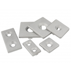 HS3271 Silver Aluminum End Cap Cover Plate With Single or Double Holes for Aluminum Profile 2020 2040 3030 3060 4040 4080 6060 8080