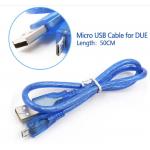 HS3275 Blue 50cm Micro USB cable