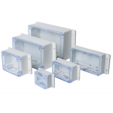 HS3276 Transparent Waterproof Electronic Enclosure Box IP67 with Ears