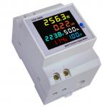 HS3286 D52-2066 Color LCD Screen Single-phase Household Smart Watt-hour Meter Guide Rail Type 40-300V Built-in CT