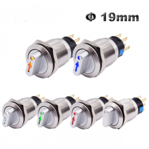 HS3498 19mm/22mm Waterproof Metal Rotary Selector Switch 2Postion/3 Postion