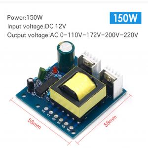 HS3571 DC-AC inverter power battery DC DC 12V to 220V boost module 150W