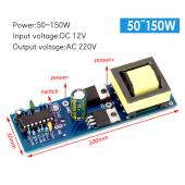 HS3573 DC-AC inverter power battery DC DC 12V to 220V boost module 150W