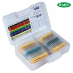 HR0679  17 Values 1% Resistor Kit Assortment, 0 Ohm-1M Ohm (Pack of 525)