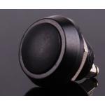 HR0589 10pcs Black PBS-33B  12mm  Electric Domed Head Momentary Push Button