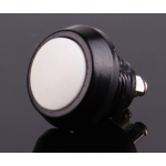HR0589W 10pcs White PBS-33B 12mm  Electric Domed Head Momentary Push Button