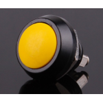 HR0589Y 10pcs Yellow PBS-33B 12mm  Electric Domed Head Momentary Push Button