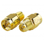HS0028 RF electrical SMA adapter SMA Plug to RP-SMA Jack(male pin) straight Coaxial adapter Male and female reversed polarity