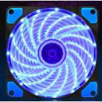 HS0063 120mm LED Ultra Silent Computer PC Case Fan 15 LEDs 12V Blue