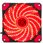HS0064 120mm LED Ultra Silent Computer PC Case Fan 15 LEDs 12V Red
