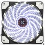 HS0065 120mm LED Ultra Silent Computer PC Case Fan 15 LEDs 12V White