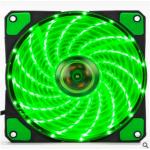 HS0066 120mm LED Ultra Silent Computer PC Case Fan 15 LEDs 12V Green