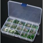 HS0193 150Pcs 100V Polyester Film Capacitor 15 Value 0.33nF-470nF Assorstment Kit
