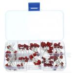 HS0195 100 pcs Metallized Polyester Film Capacitors Assortment Kit, 10nF ~ 470nF