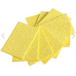 HS0302 Welding Soldering Iron Tip Replacement Sponge Cleaning Pads 51mm x 36mm x 1.1mm