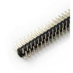HS0493 2 Row 40 Pin 2.54mm elbow Pin Header 100pc
